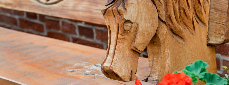 Holzpferdekopf